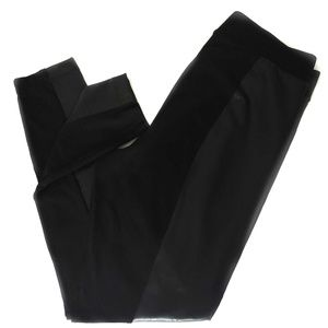 Gap Black Faux Leather Leggings